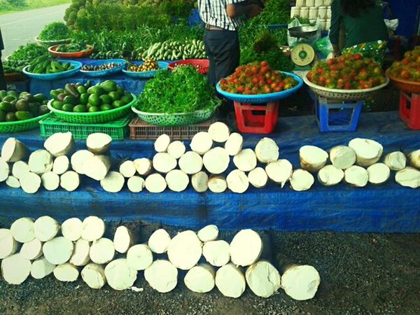 Market Buy And Sale Foodie Vegetables Bamboo Art Beautifully Organized