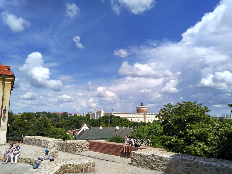 Travael Nofilters Cloud - Sky Sky Outdoors Day People Poland Lublin Relaxing People Wall Sunny Day City View Blue Sky