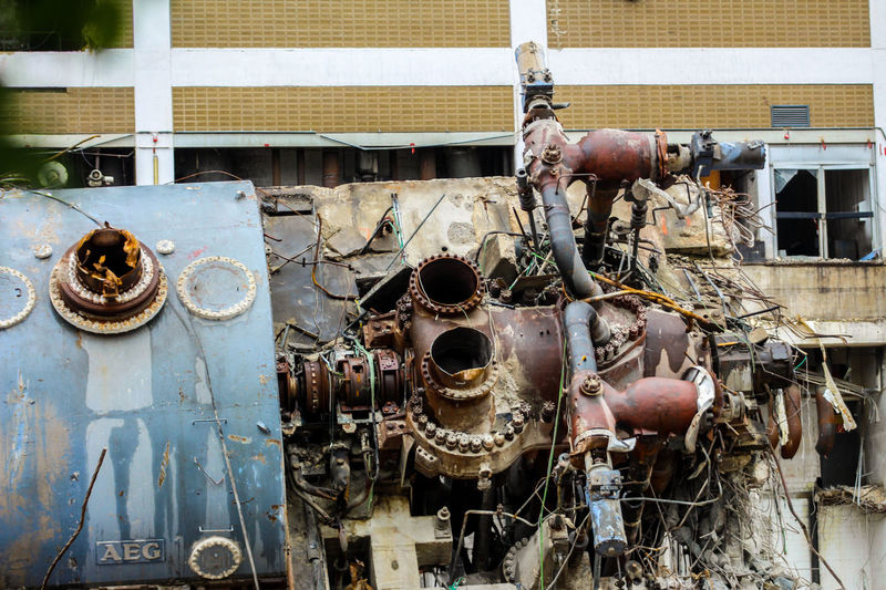 Abrissarbeiten Industry Machinery Metal Old Outdoors Rusty