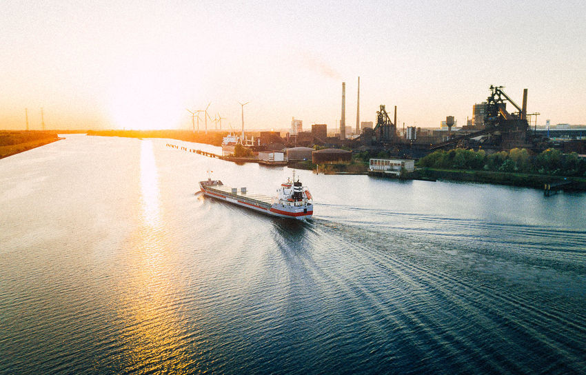 Bremen Drone  Architecture Bay Building Exterior Built Structure City Dji Mavic Mode Of Transportation Nature Nautical Vessel No People Outdoors Passenger Craft Sailing Sea Ship Sky Sunset Transportation Travel Water Waterfront Weser