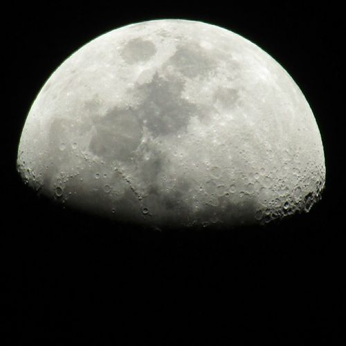 Tonight's moon. Moon Moon Surface Night No People Moonlover Nofilter Notripod Sky