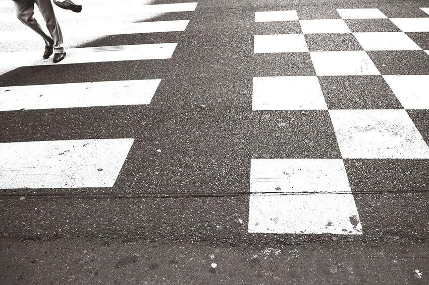 Bnw_friday_eyeemchallenge I walk the Line - Johnny Cash Urban Geometry Walk This Way Geometric Shapes Crosswalk Silhouette Light Streetphotography Blackandwhite Blackandwhite Photography