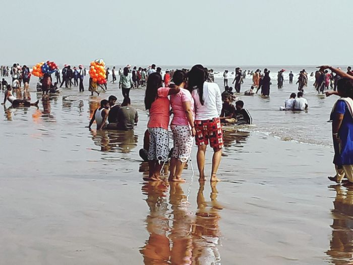 Group of people on beach