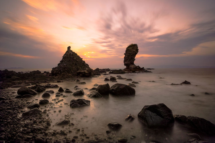simabara japan Beauty In Nature Cloud - Sky Day Nature No People Outdoors Rock - Object Scenics Sea Sky Sunset Tranquility Water