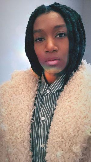 #behind Each Big #smile Hides A Lot Of Sadness #woman #black  #color #portrait #selfie