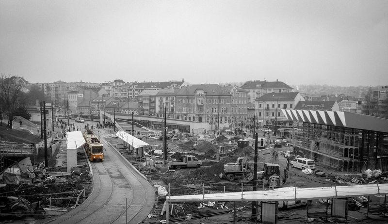 Moszkva Tér Budapest Blackandwhite Yellow Tram