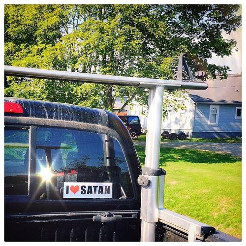 Vancouver Iphone 6 Plus Vancouver BC Hipstamatic I Love Satan Religious Art Atheism Atheist Anti Religion satan