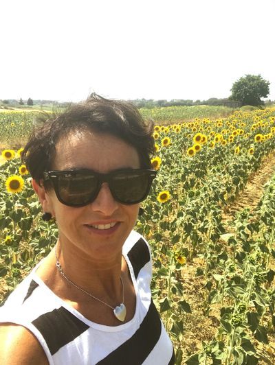 Sunglasses Growth Outdoors Nature Day Field Portrait Headshot Happiness Sunflowers🌻 Having a field day!