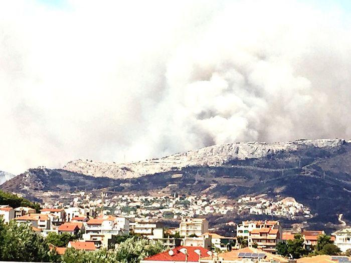 EyeEmNewHere Mountain City Sky Forest Fire croatia