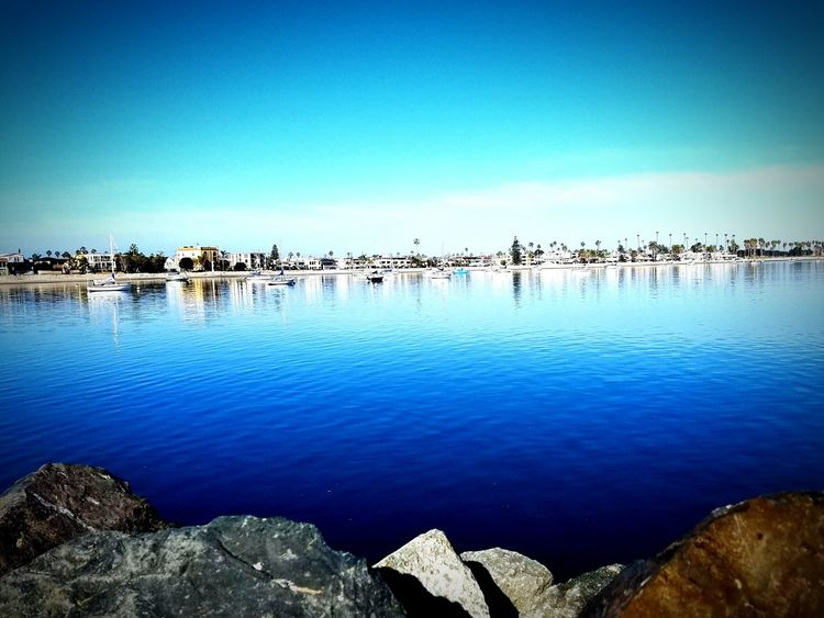 Blue Reflection Water Sky Beauty In Nature Nature Tranquility Scenics Beach San Diego Missionbeach California