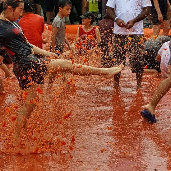 Tomato Festival Korea Solotravel Outdoors Country Life World Hello World Tomatos Tomato Battle Represent Korea Culture Tradition