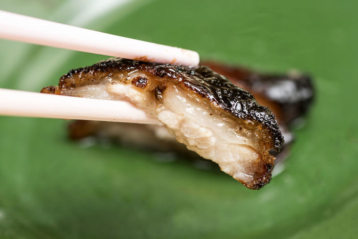 Char Siew Close-up Detail Focus On Foreground Food Macro Selective Focus