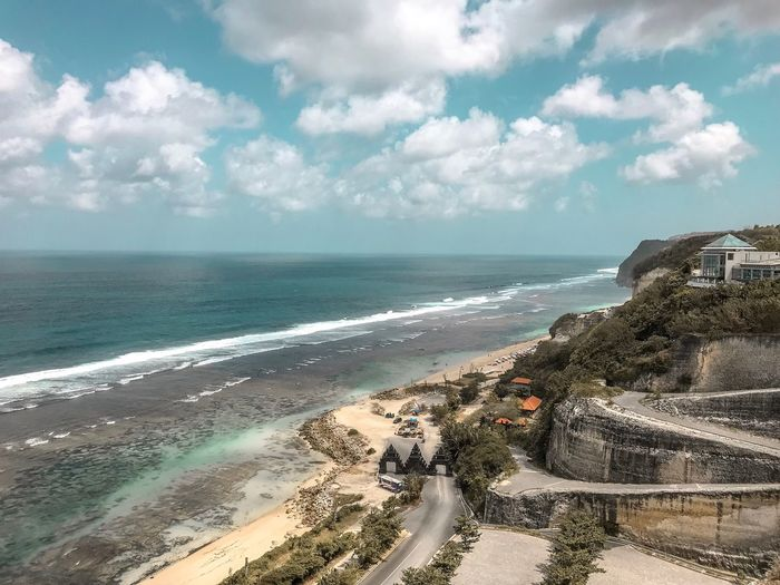 Travel Photography Travel Destinations Indian Ocean Coastline Beach Cliff View From Above Ocean Limestone Rocks Curvy Road Sea Water Beach Sky Horizon Over Water Cloud - Sky Land Horizon Beauty In Nature Scenics - Nature Day Nature Sand Wave Tranquil Scene Tranquility Motion Surfing Sport Outdoors
