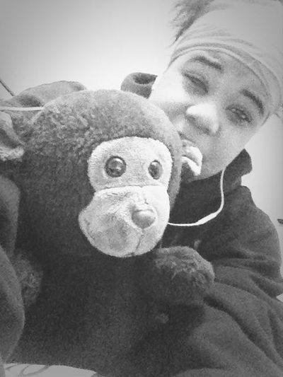 Yes I do still sleep with my bear-monkey lol