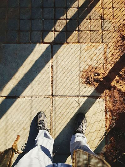 sunrises Low Section Men Shadow Sunlight Human Leg High Angle View Focus On Shadow LINE Human Foot Shoe Human Feet Personal Perspective