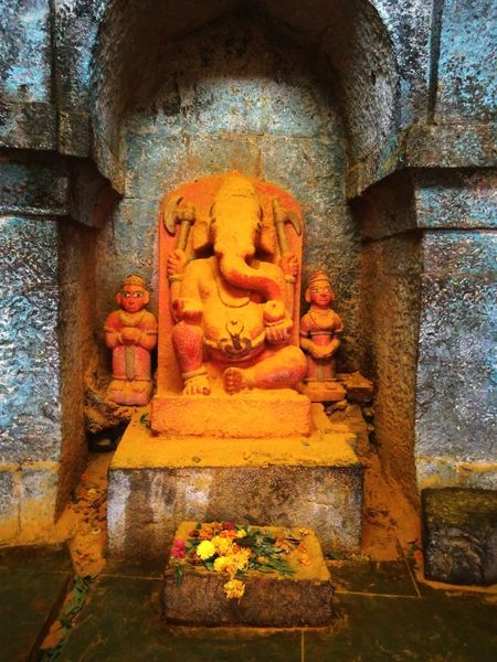 Ganesha temple Old Temple Idol God India Colors Beauty
