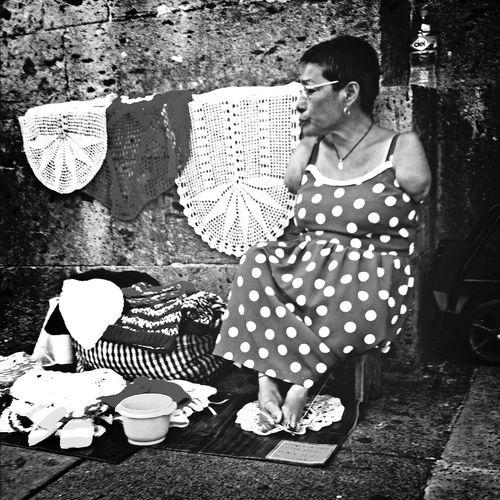 Hard Work Woman Working Street Workers