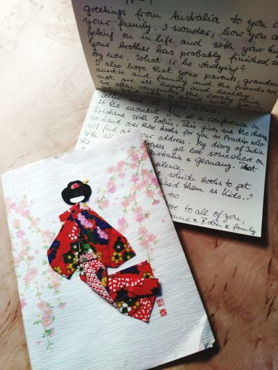 Letters🎑🎎👘 Oldmemories😊 Indoors  Paper Text High Angle View No People Close-up Communication Representation