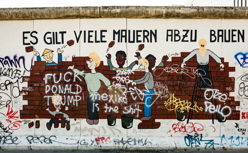 The berlin wall has been a creative spot for many talented artists to showcase over the years Berlin Berlin Photography Berlin Wall Mexico Travel Art And Craft Beautiful Destinations City Creativity Day Graffiti Hipster Kunst Mural Poster Street Art Text Thisissoberlin Trump Wall #FREIHEITBERLIN EyeEmNewHere