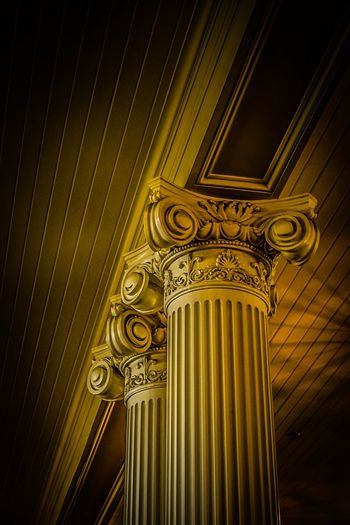 EyeEm Selects Design Ornate Architecture Built Structure Pattern Gold Colored No People Indoors  Close-up Day Hotel Lobby Angles And Lines Light And Shadow Perspective