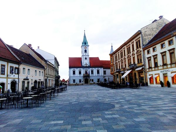 Varazdin Architecture Building Exterior Outdoors Travel Destinations City Cityhall Mainsquare Clock EyeEmNewHere