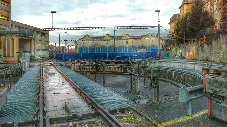 Railway Depot Railway Turntable Wheelhouse Turntable Locomotives Lausanne