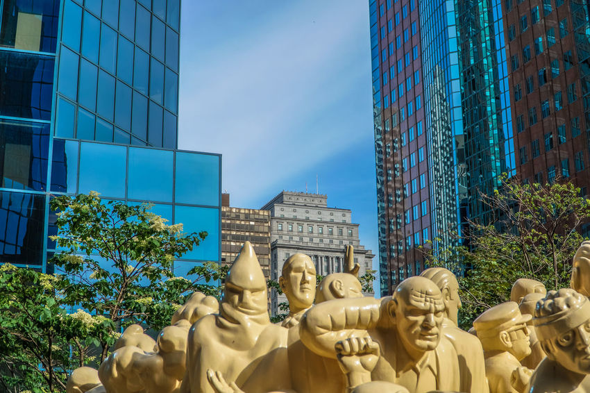 Architecture Building Exterior Built Structure Business Finance And Industry City Cityscape Day Lion - Feline No People Outdoors Sculpture Sky Skyscraper Statue Urban Urban Geometry Urban Photography