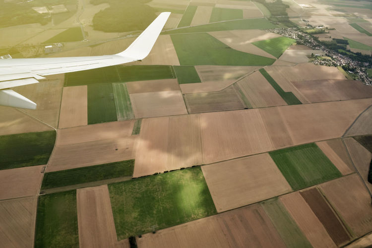 Boeing Plane Transportation Travel Traveling Trip Aerial View Agriculture Airplane Beauty In Nature Day Flying Landscape Lifestyles Nature Outdoor Outdoors Travel Destinations Go Higher