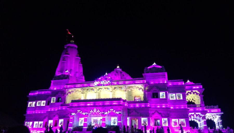 Prem Mandir Night Architecture Tourism Famous Place First Eyeem Photo