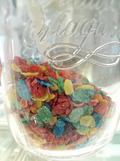 Multi Colored No People Close-up Indoors  Day Rainbow Colors Cereal Light Philippines Masonjar Maximum Closeness Fresh Colors
