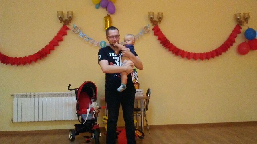 Me and my godson 😊 first birthday 🎉 🎊 🎊 🎉 People Two People Hi! Hello World Godson Godson And Godfather