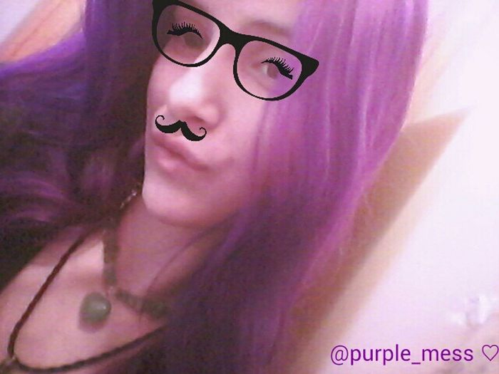 ☆ SUNDAY FUNDAY ☆ Hi! Selfie ✌ SundayFunday Sundaynight Purplemess Purple ♥ Yesihavepurplehair Girlswithpurplehair Clipart Originalcontent Movember2015