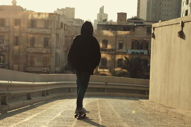 Skeatboard Music SunshineBuilding Exterior Alexandria Egypt Mood