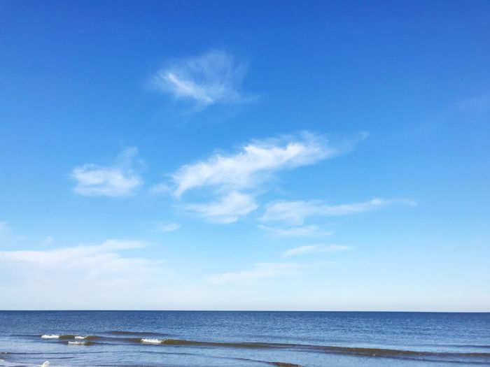 Sky Water Sea Cloud - Sky Beauty In Nature Scenics - Nature Blue Horizon Over Water Horizon Tranquility Tranquil Scene No People Idyllic Non-urban Scene Beach Outdoors Land Nature Day