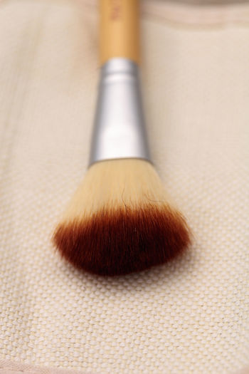 Close Up Of Make-Up Brush On Table