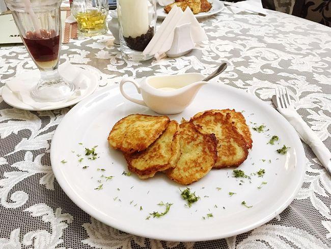 Ukrainian Dishes Potatoes Sour Cream