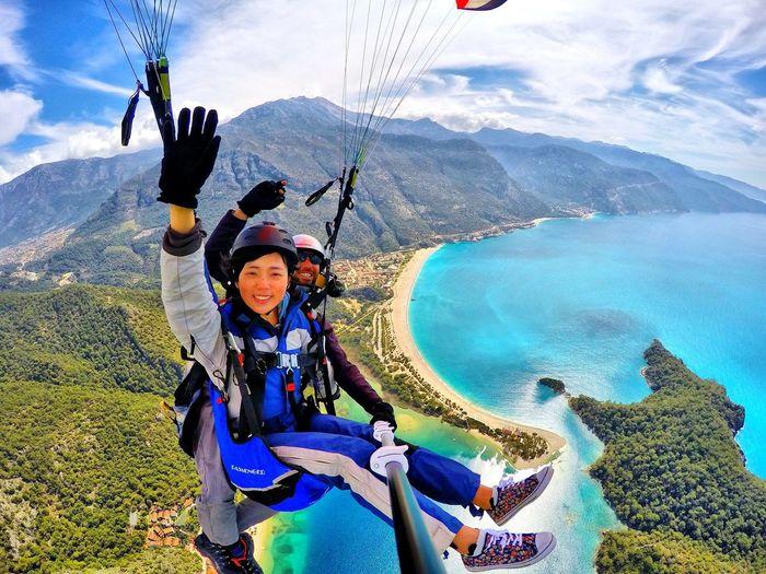 Adventure Gopro Discover  Turkey Paragliding Comeseeturkey Beach Travel Paradise Parapente