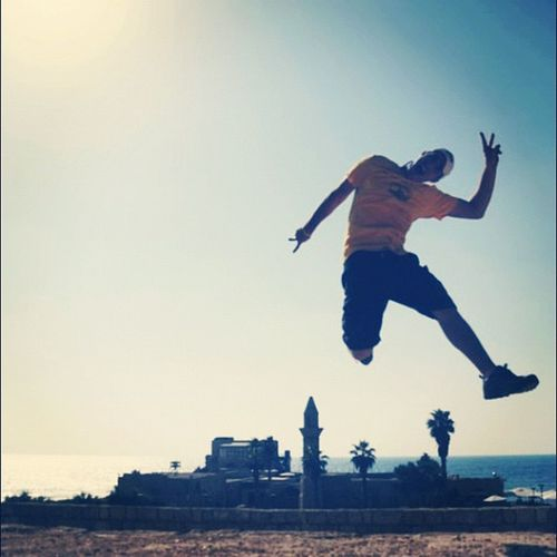 Me jumping at #caesarea #israel #jj_challenge_silhouette #silhouette #jump #medsea Jump Israel Jj_challenge_silhouette Caesarea Medsea Silhouette