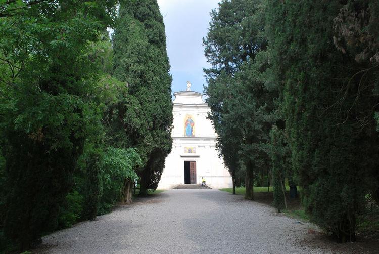 Exterior of the ossuary of solferino, mantova, lombardy, italy.