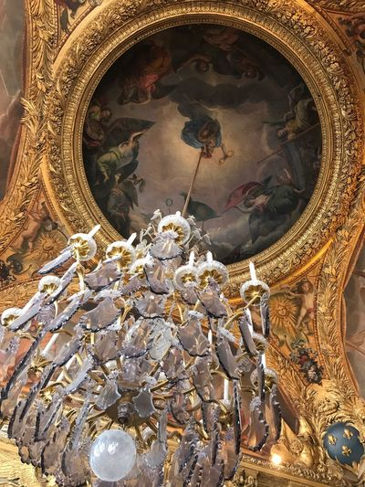Sculpture Day Gold Colored Built Structure No People Architecture Low Angle View Gold Indoors  Statue Castle Versailles Glass