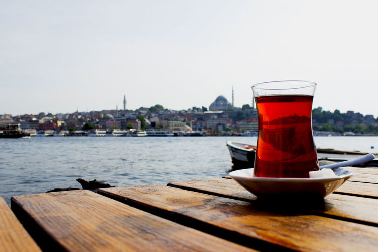 Cityscape Istanbul Tea Tee Turkey Bosphorus Close Up Close-up Day Drink Food And Drink Freshness Refreshment Wide Angle Wide Shot çay Been There. Done That. Rethink Things