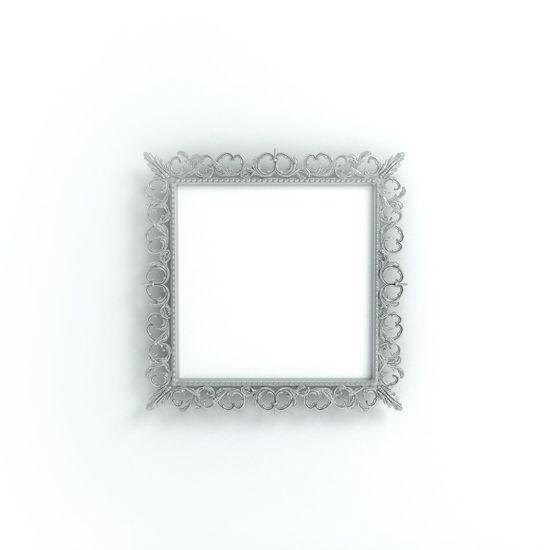 Frame Product Photography Blogphotography Photoframe Printshop Silver  Metal Square Baroque Stockphoto