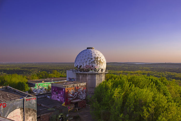 Abandoned Abandoned Places Architecture Building Exterior Canon Clear Sky Cupola Day Dome Forest Graffiti Horizon Landscape Nature No People Nopeople Outdoors Photographer Photography Shade Spray Paint Street Art Sunset Tranquility Wild