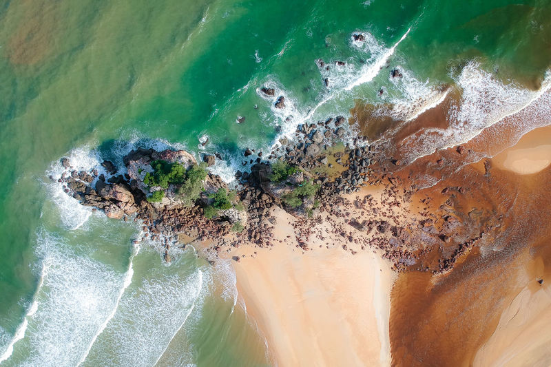 DCIM/100MEDIA/DJI_1307.JPG Sea Water Beauty In Nature Nature Scenics - Nature Beach No People Motion Land Wave High Angle View Day Outdoors Sport Aquatic Sport Solid Rock Aerial View Power In Nature Turquoise Colored