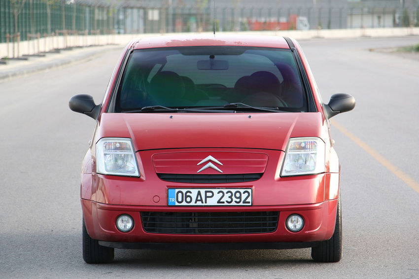 Citroen C2 Transportation Car Motor Vehicle Mode Of Transportation Red City Land Vehicle Road No People Street Day Outdoors Citroen C2 Vts Citroen C2 Citroen Vts Vtr Red Ankara Türkiye Turkey A New Perspective On Life EyeEmNewHere