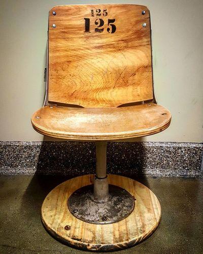125  Baseball Seat Los Angeles, California Office Building Veterinarian Waiting Room Woodgrain
