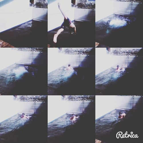 My Brother ❤ Taking Photos In The Swiming Pool Sun ☀