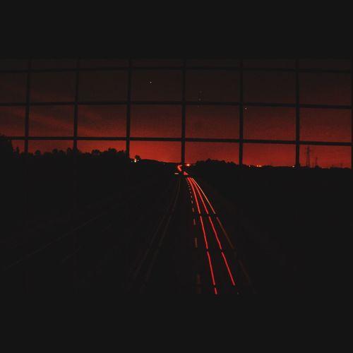 Tales from the wasteland Night Illuminated Transportation Dark Sky Outdoors Urbanphotography