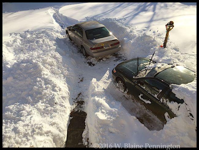 Progress was made, roads still unplowed though. Snowzilla Blizzard 2016 Epic Snow Silver Spring