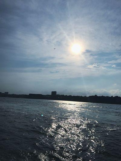 Sun Sea Sunlight Sky Water No People Nature Sunset Outdoors Beauty In Nature Scenics Tranquility Cloud - Sky Waterfront Day Horizon Over Water NYC Ferry Views New York City New York City.